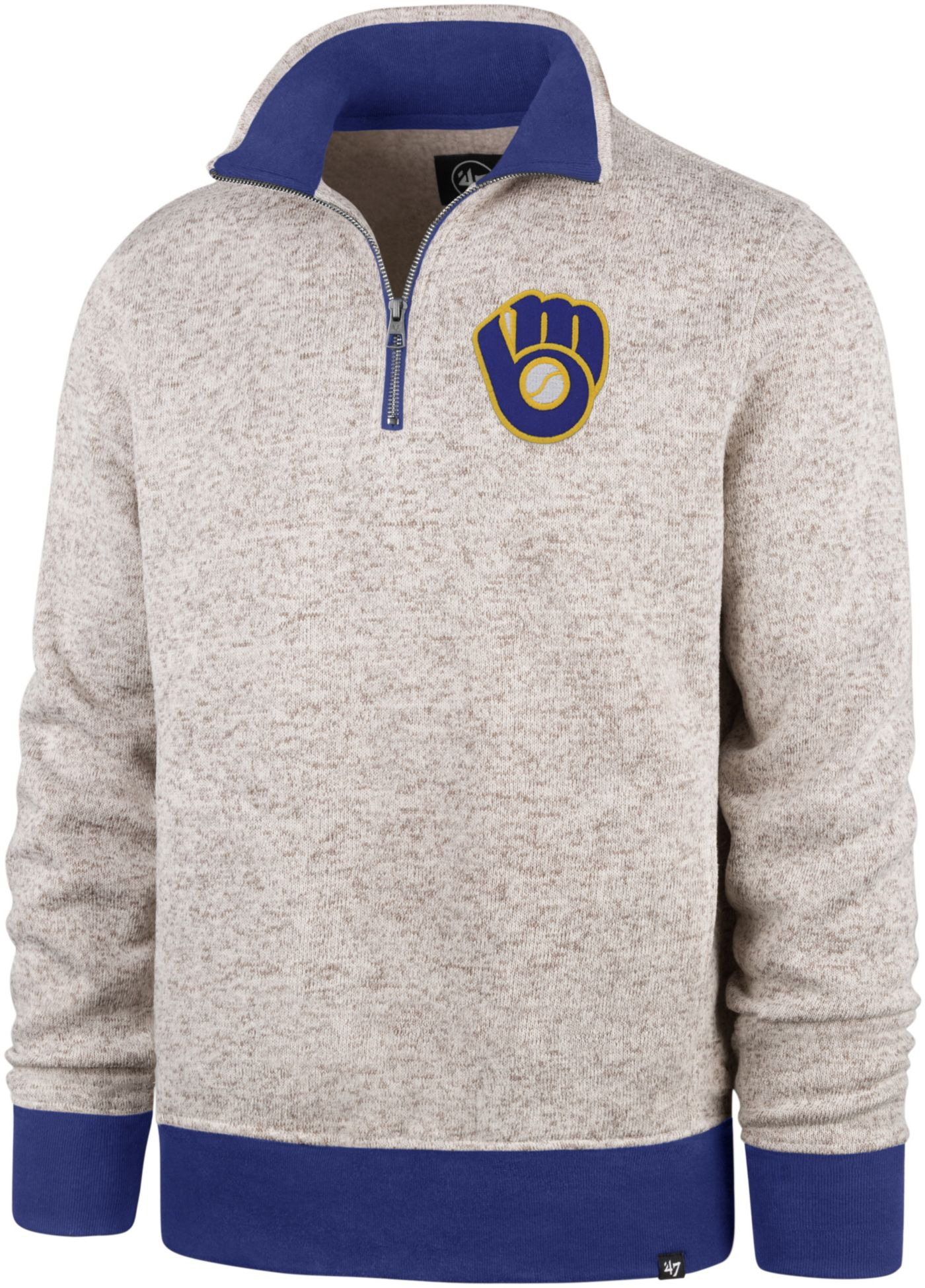 '47 Men's Milwaukee Brewers Kodiak Quarter-Zip Pullover