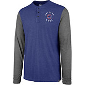 '47 Men's Chicago Cubs Henley Long Sleeve Shirt