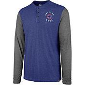 '47 Men's Chicago Cubs Henley Long Sleeve Shirt