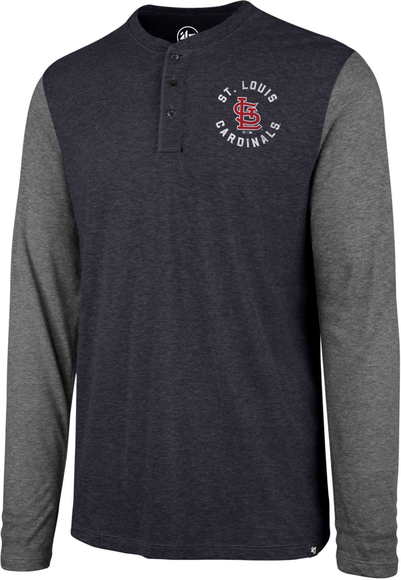 '47 Men's St. Louis Cardinals Henley Long Sleeve Shirt