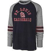 '47 Men's St. Louis Cardinals Navy Wind-up Raglan Long Sleeve Shirt