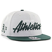 '47 Men's Oakland Athletics Street Script Captain Adjustable Snapback Hat