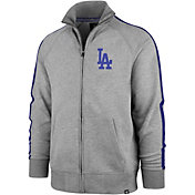 '47 Men's Los Angeles Dodgers Rundown Full-Zip Track Jacket