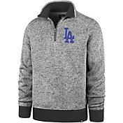 '47 Men's Los Angeles Dodgers Kodiak Quarter-Zip Pullover