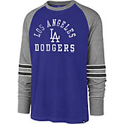 '47 Men's Los Angeles Dodgers Royal Wind-up Raglan Long Sleeve Shirt