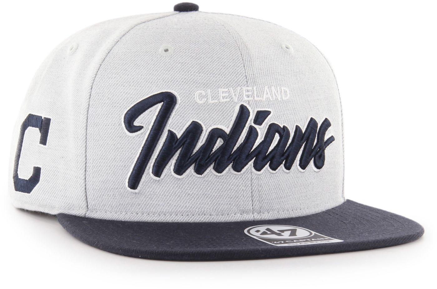 '47 Men's Cleveland Indians Street Script Captain Adjustable Snapback Hat