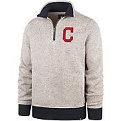 '47 Men's Cleveland Indians Kodiak Quarter-Zip Pullover