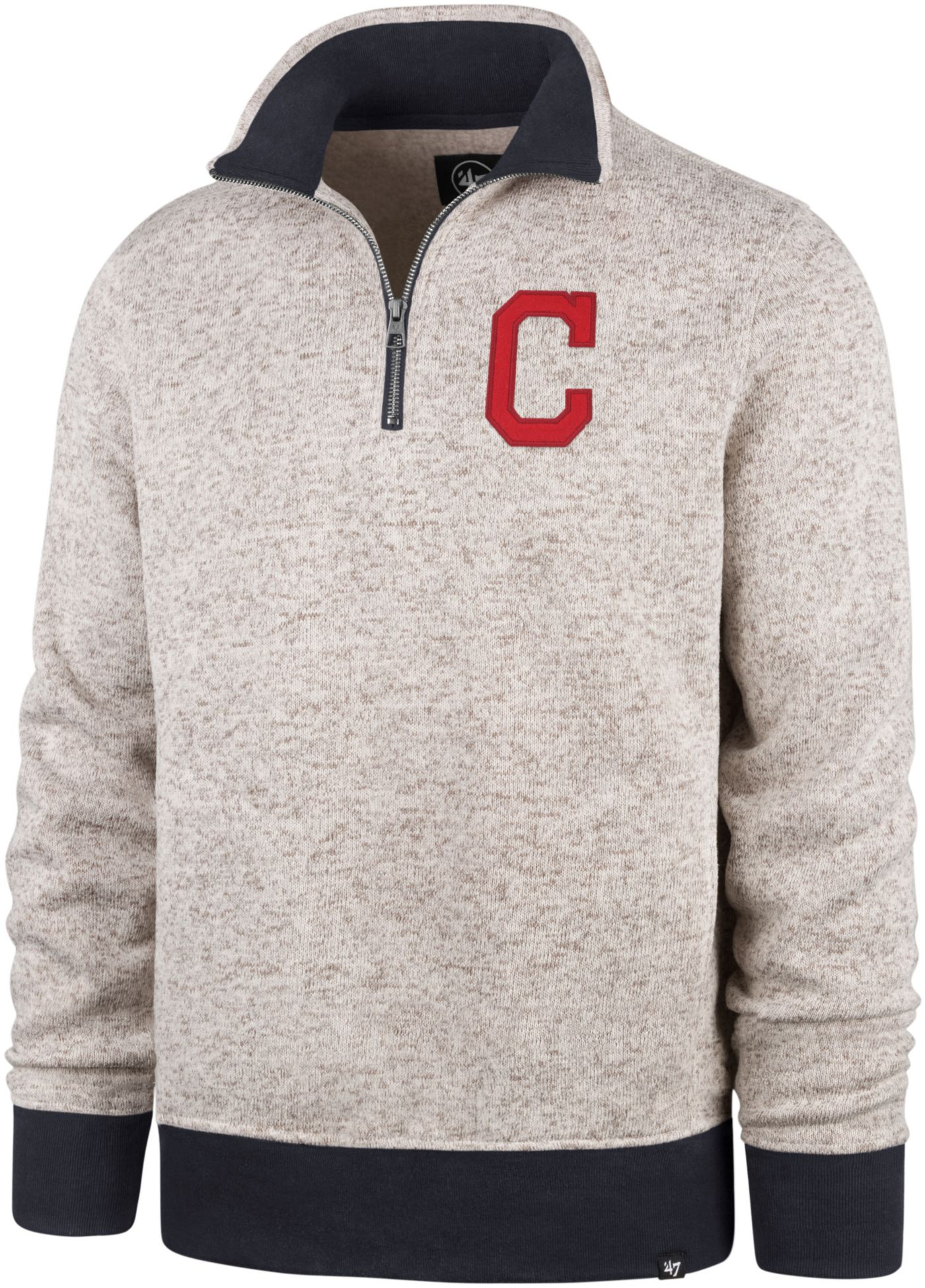 '47 Men's Cleveland Indians Kodiak Quarter-Zip Pullover