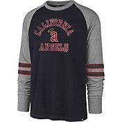 '47 Men's Los Angeles Angels Navy Wind-up Raglan Long Sleeve Shirt