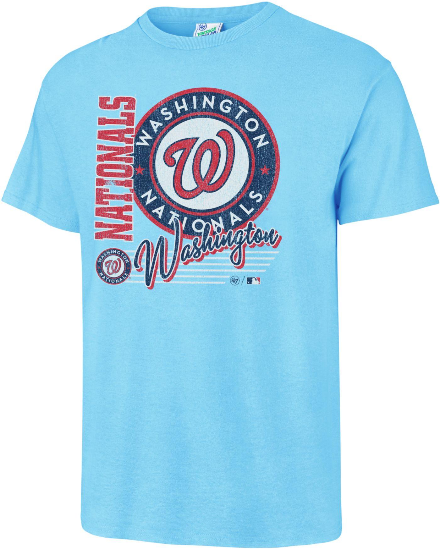 '47 Men's Washington Nationals Vintage Blue T-Shirt