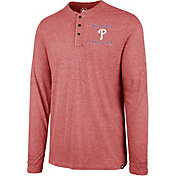 '47 Men's Philadelphia Phillies Henley Long Sleeve Shirt