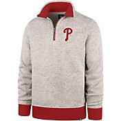 '47 Men's Philadelphia Phillies Kodiak Quarter-Zip Pullover