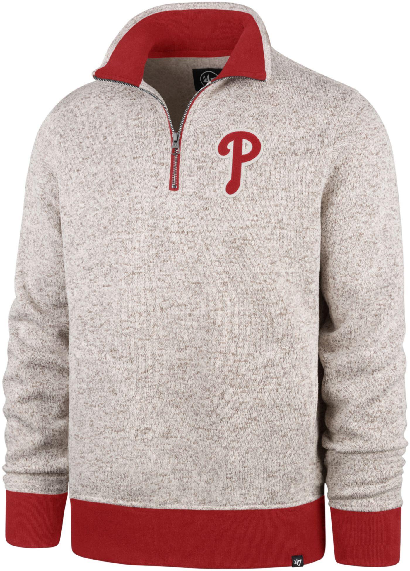 '47 Men's Philadelphia Phillies Kodiak Quarter-Zip Pullover