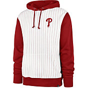 '47 Men's Philadelphia Phillies White Pinstripe Headline Pullover Hoodie