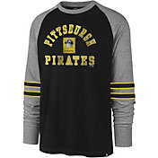 '47 Men's Pittsburgh Pirates Black Wind-up Raglan Long Sleeve Shirt