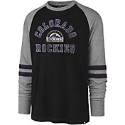 '47 Men's Colorado Rockies Black Wind-up Raglan Long Sleeve Shirt