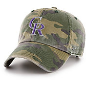 '47 Men's Colorado Rockies Camo Clean Up Adjustable Hat