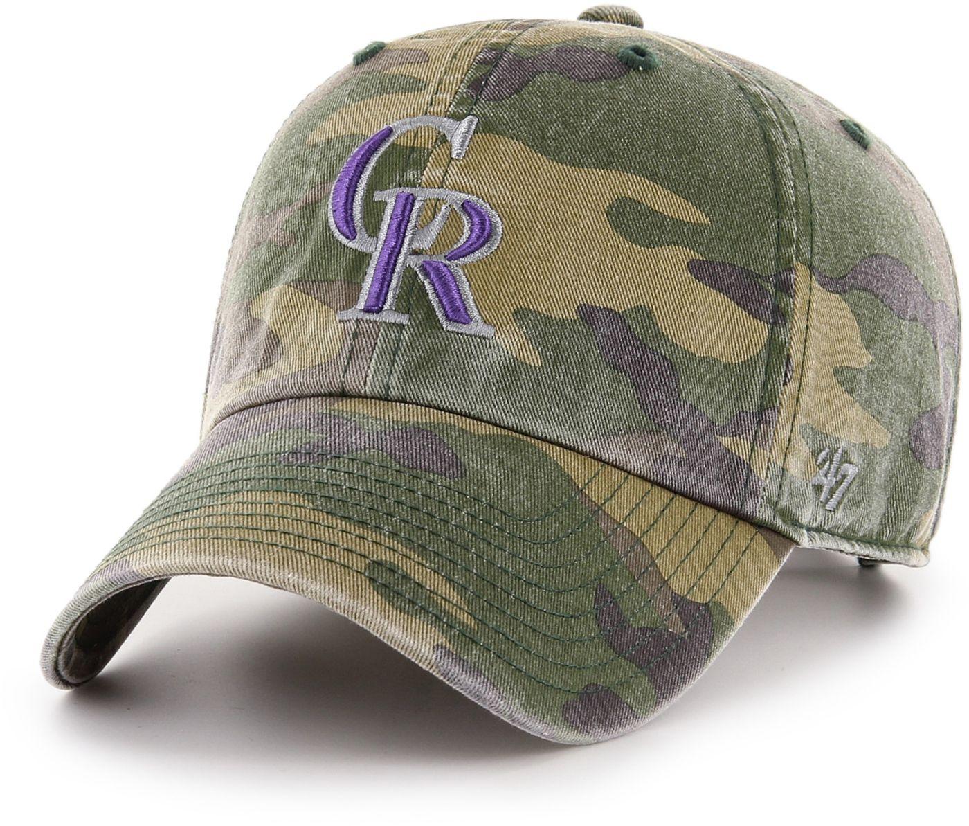 '47 Men's Colorado Rockies Camo Clean Up Adjustable Hat