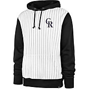 '47 Men's Colorado Rockies White Pinstripe Headline Pullover Hoodie