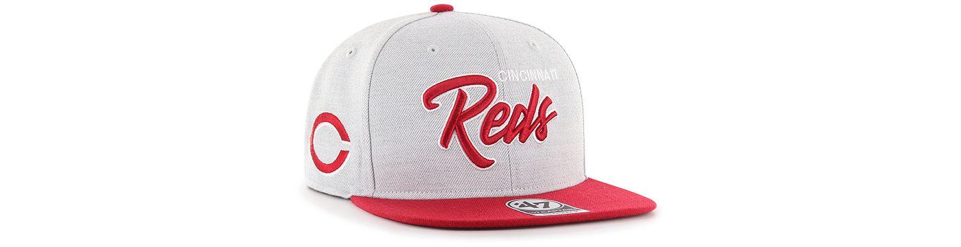 '47 Men's Cincinnati Reds Street Script Captain Adjustable Snapback Hat