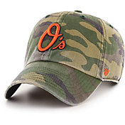 '47 Men's Baltimore Orioles Camo Clean Up Adjustable Hat