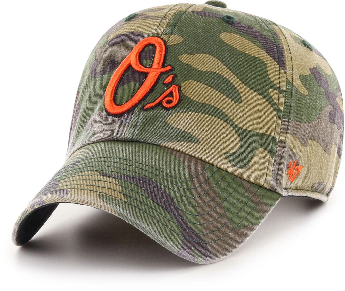 '47 Men's Baltimore Orioles Camo Clean Up Adjustable Hat