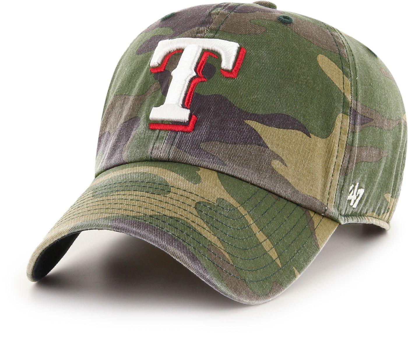 '47 Men's Texas Rangers Camo Clean Up Adjustable Hat