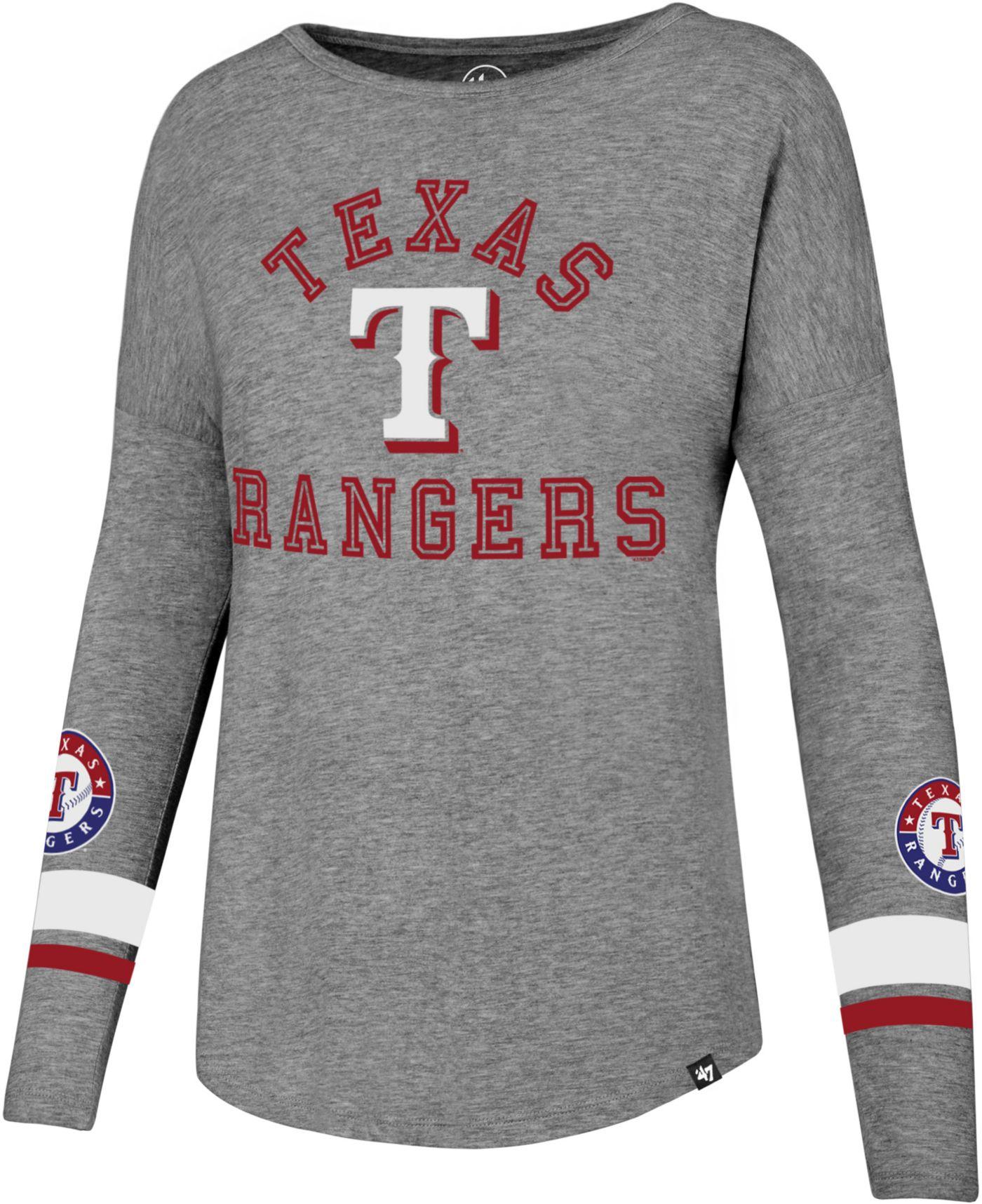 '47 Women's Texas Rangers Long Sleeve Crew