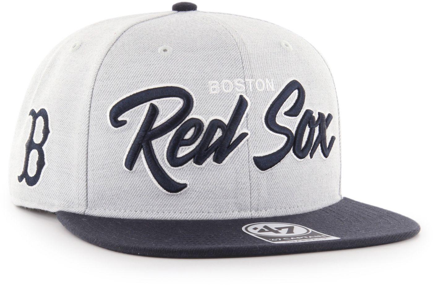 '47 Men's Boston Red Sox Street Script Captain Adjustable Snapback Hat