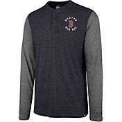 '47 Men's Boston Red Sox Henley Long Sleeve Shirt