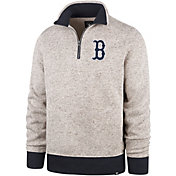 '47 Men's Boston Red Sox Kodiak Quarter-Zip Pullover