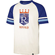 '47 Men's Kansas City Royals Cream Cooperstown Tri-Blend Raglan T-Shirt