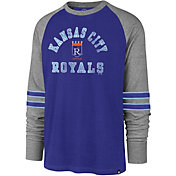 '47 Men's Kansas City Royals Royal Wind-up Raglan Long Sleeve Shirt