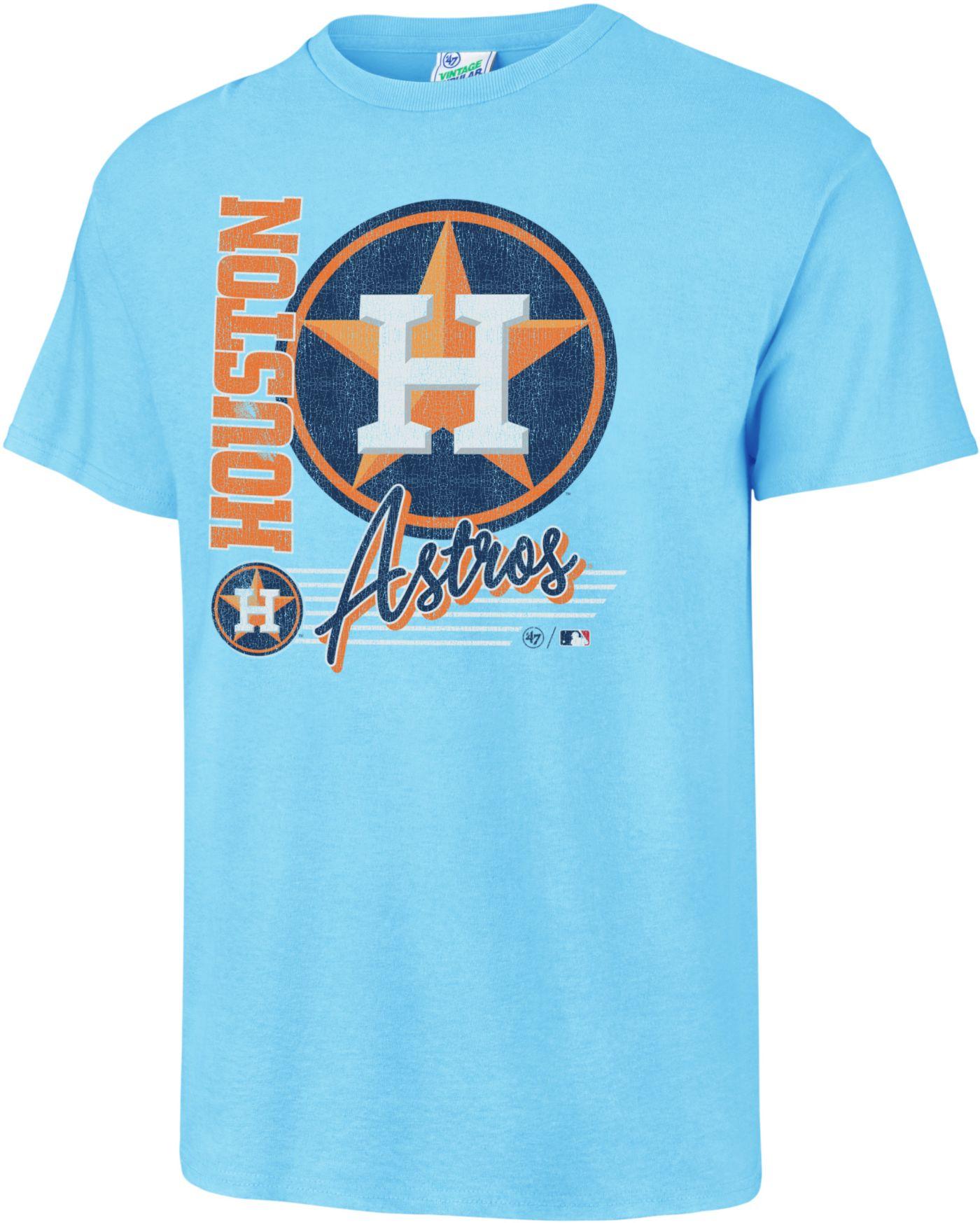'47 Men's Houston Astros Vintage Blue T-Shirt
