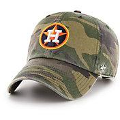 '47 Men's Houston Astros Camo Clean Up Adjustable Hat
