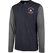 '47 Men's Houston Astros Henley Long Sleeve Shirt