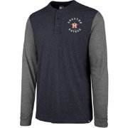 '47 Men's Houston Astros Henley Long Sleeve Shirt