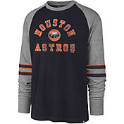 '47 Men's Houston Astros Navy Wind-up Raglan Long Sleeve Shirt