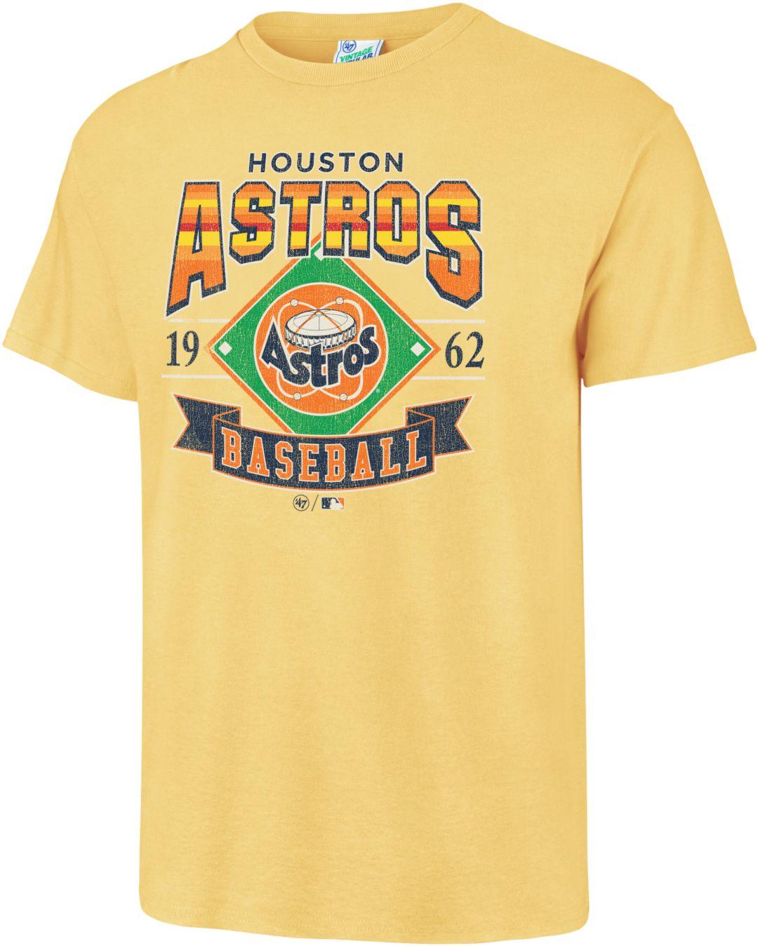 pretty nice ccc29 a704e '47 Men's Houston Astros Vintage Yellow T-Shirt