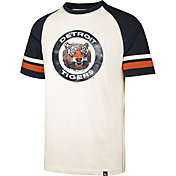'47 Men's Detroit Tigers Cream Cooperstown Tri-Blend Raglan T-Shirt
