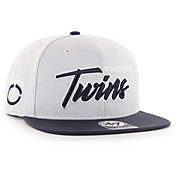 '47 Men's Minnesota Twins Street Script Captain Adjustable Snapback Hat