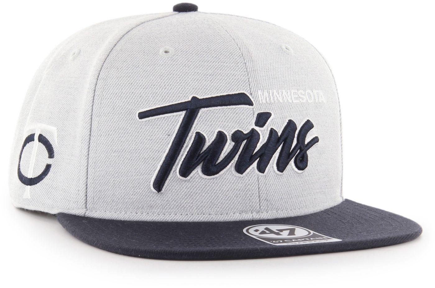 '47 Men's Minnesota Twins Street Script Captain Adjustable Snapback Hat