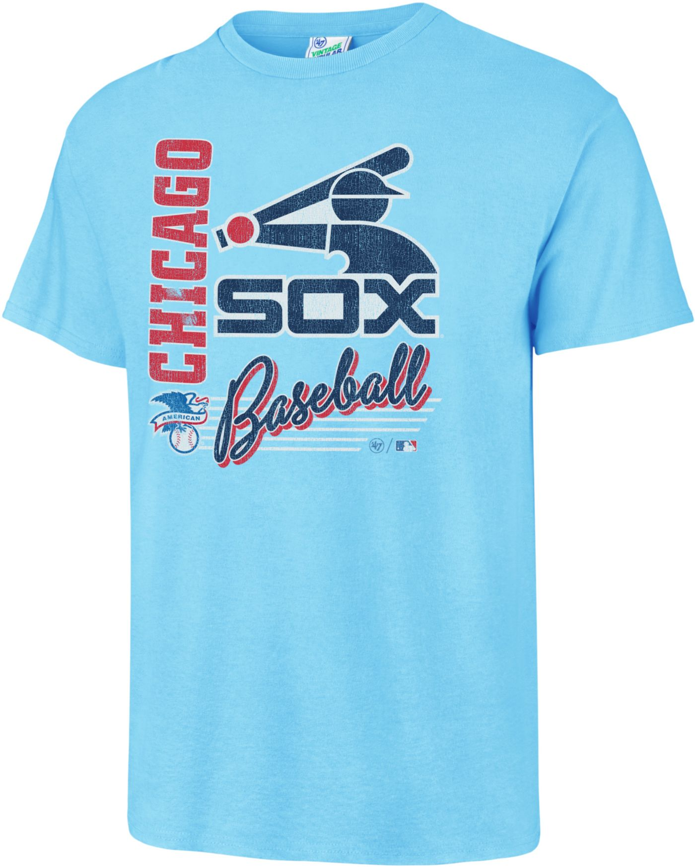 '47 Men's Chicago White Sox Vintage Blue T-Shirt