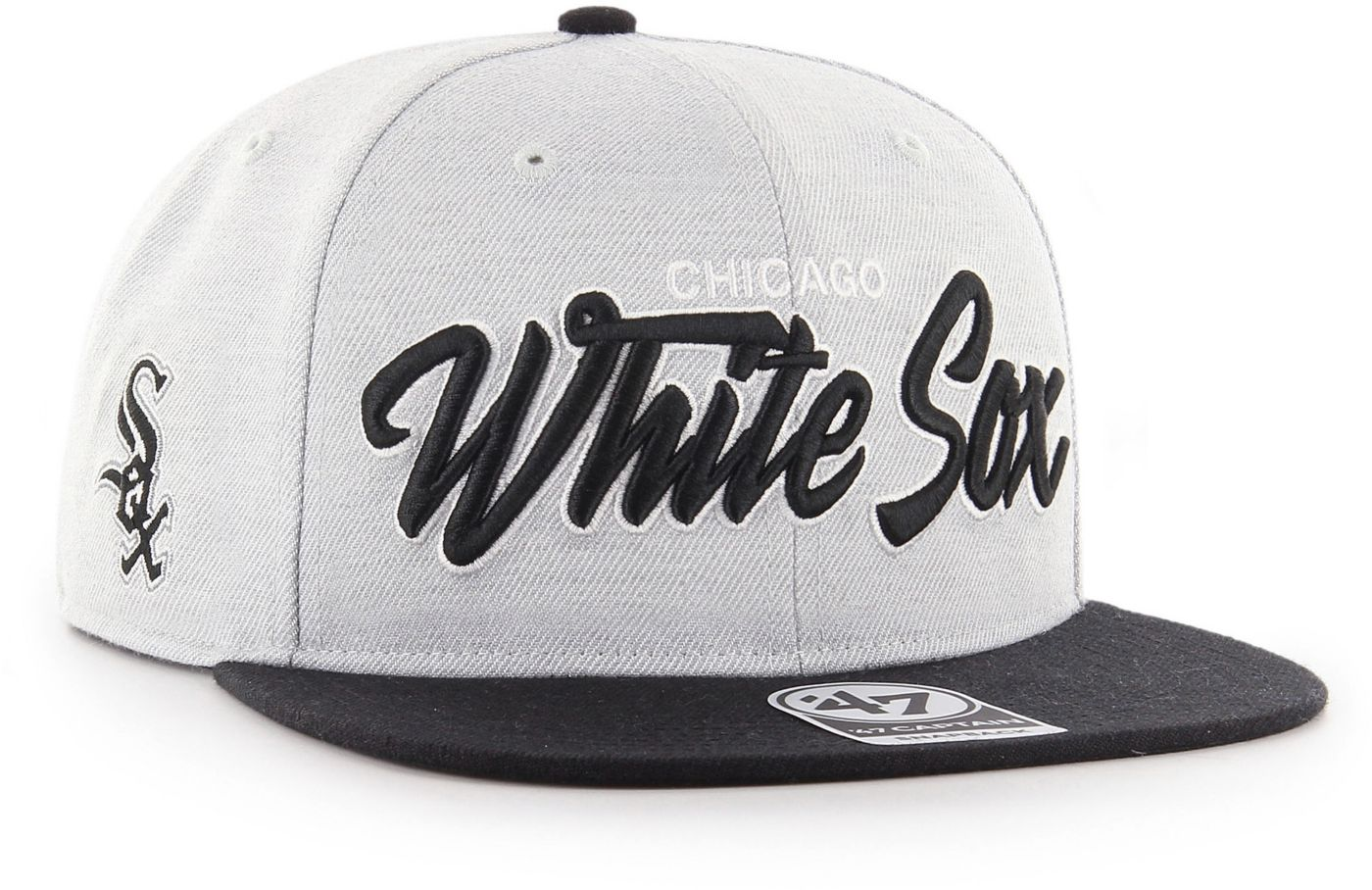'47 Men's Chicago White Sox Street Script Captain Adjustable Snapback Hat