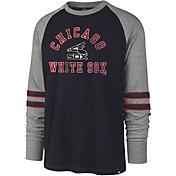 '47 Men's Chicago White Sox Navy Wind-up Raglan Long Sleeve Shirt