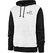 '47 Men's Chicago White Sox White Pinstripe Headline Pullover Hoodie