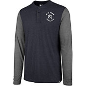 '47 Men's New York Yankees Henley Long Sleeve Shirt