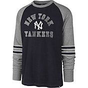 '47 Men's New York Yankees Navy Wind-up Raglan Long Sleeve Shirt