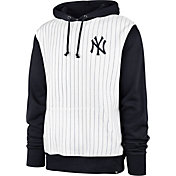 '47 Men's New York Yankees White Pinstripe Headline Pullover Hoodie
