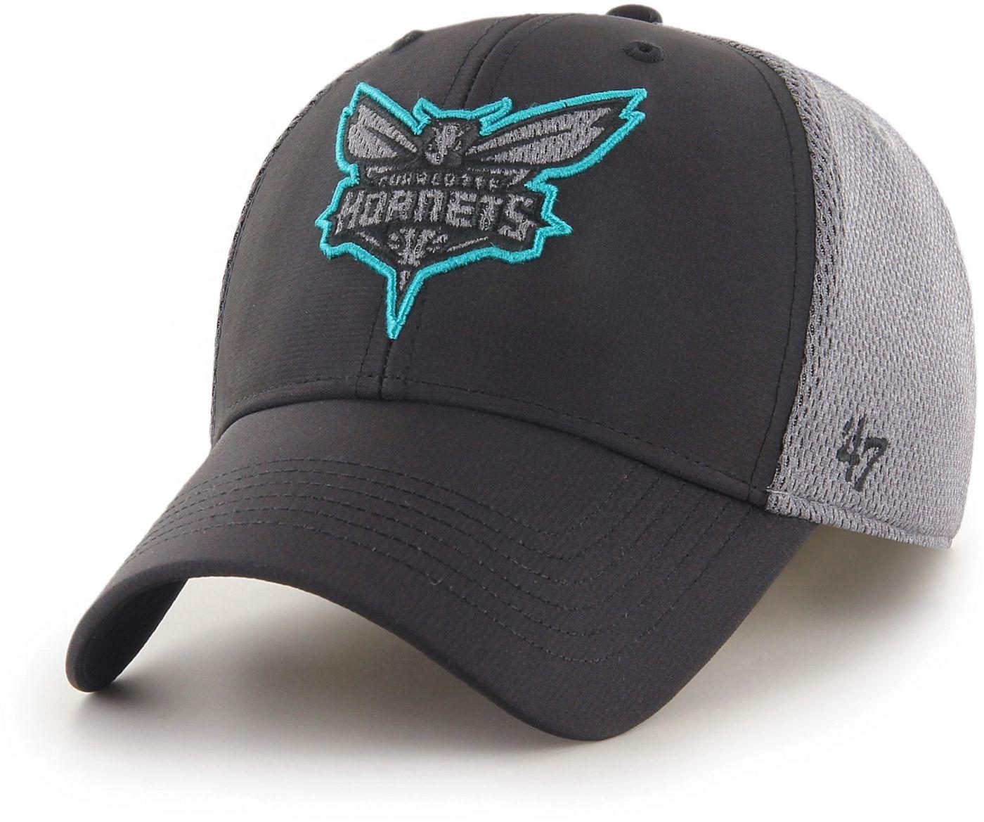 47 Men's Charlotte Hornets Arlo MVP Black Adjustable Hat